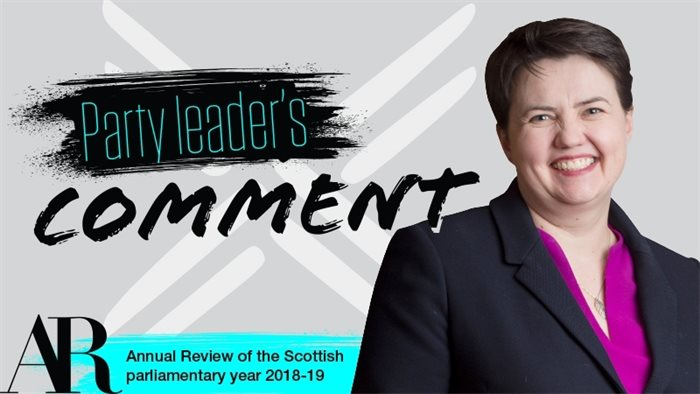 Ruth Davidson: do not treat compromise as a dirty word