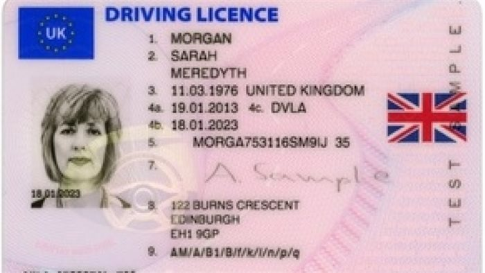 Union flag to appear on driving licences as celebration of 'one nation Britain'