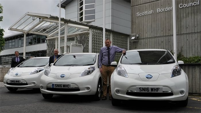 Scottish Borders Council buys electric vehicles with funding from Scottish Government