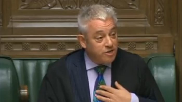 John Bercow claims there is a 'blindingly obvious'conspiracy against giving him a peerage