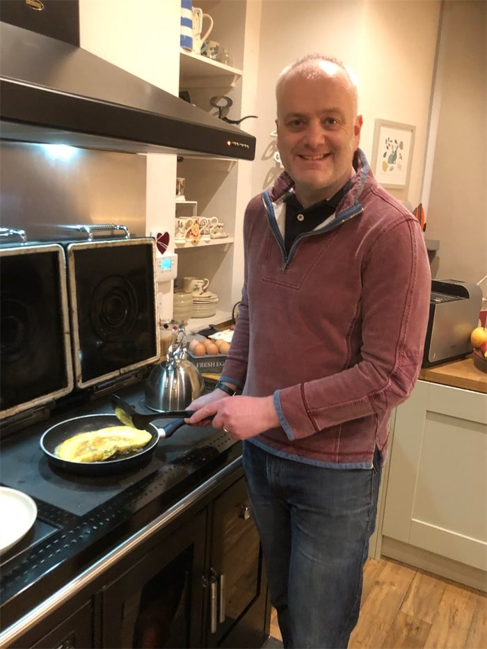 Politicians and their plates: Mark Ruskell's cheese and herb omelette