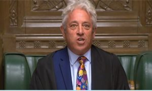 John Bercow rules against second Commons vote on Boris Johnson's Brexit deal