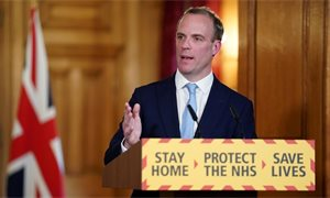 Dominic Raab confident that 'fighter' Boris Johnson will beat the coronavirus
