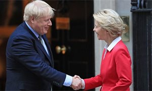 Boris Johnson and Ursula von der Leyen hold talks in bid to break Brexit deadlock