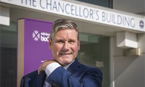 Keir Starmer backs Richard Leonard but says Labour has 'a mountain to climb'
