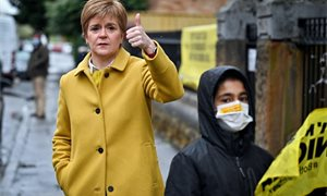 Nicola Sturgeon calls far-right candidate a 'fascist' in street confrontation