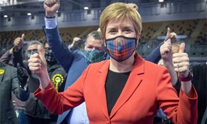 Sturgeon feeling 'extremely confident' of SNP success as she holds Glasgow Southside seat